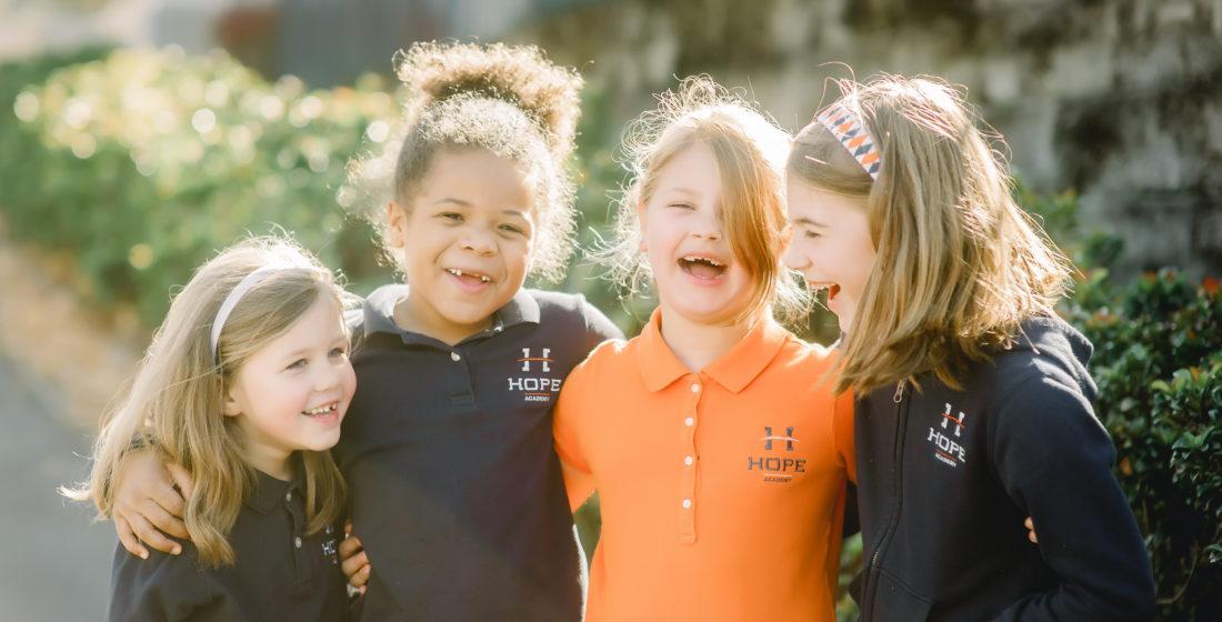 Elementary Girls Laughing