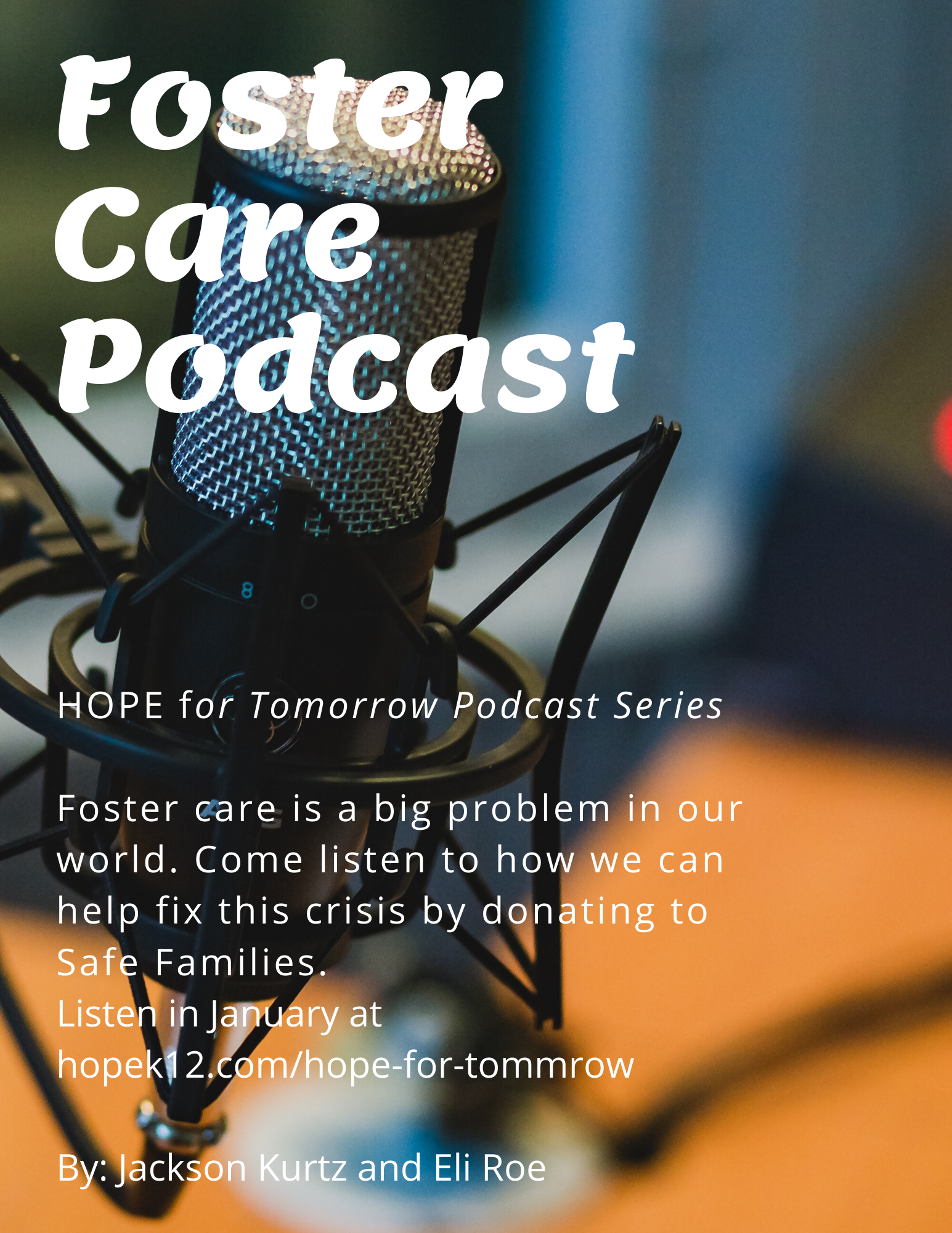 Foster Care - Middle School Students Podcast