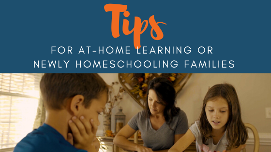 Mom teaching students through homeschool