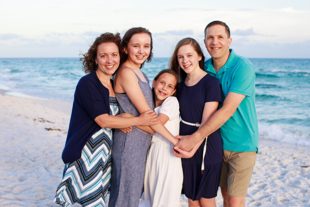 Picture of Henry Family on the beach