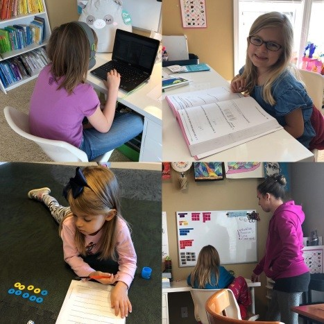 Students Learning at Home